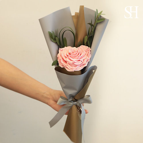 心心玫瑰保鮮花 (粉紅色)