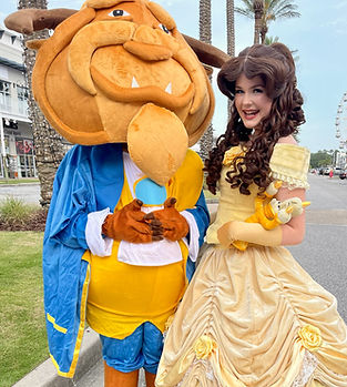 Beauty and the Beast Prince belle bell disney character rental boy girl birthday party ideas in panama city corporate event party ideas venue entertainment advertising