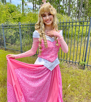 Sleeping Beauty Aurora Briar Rose disney princess party gender reveal baby shower girl birthday party kids entertainment corporate business event pink blue