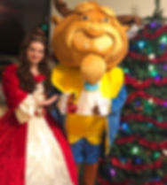 Beauty and the Beast Mascot Character Christmas Birthday Party