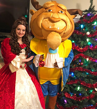 Beauty and the Beast Mascot Character Christmas Birthday Party Prince boy