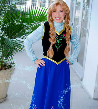 Anna Ana Frozen Elsa disney princess queen ice birthday party girl kids ideas destin 30a graduation mothers day baby shower corporate event entertainment character venue location