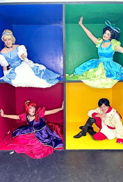 Cinderella Prince Charming Step Sisters stepsisters anastasia drizella evil villains princess disney girls birthday party ideas panama city FL corporate events venue