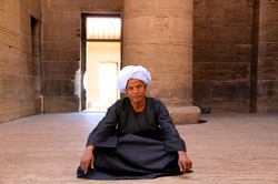 Keeper At Philae Temple