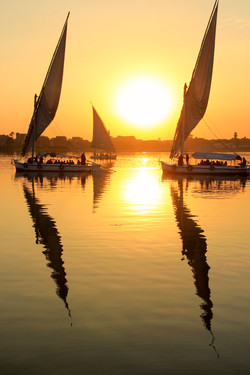 The Nile & Setting Sun