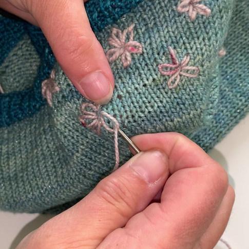 Blumen aufsticken