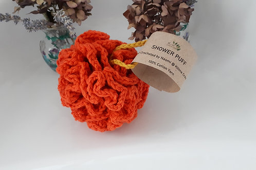 Orange and Buttercup Shower Puff - Small