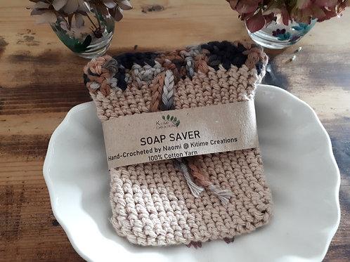 Tan with Multicolour Top  Soap Saver