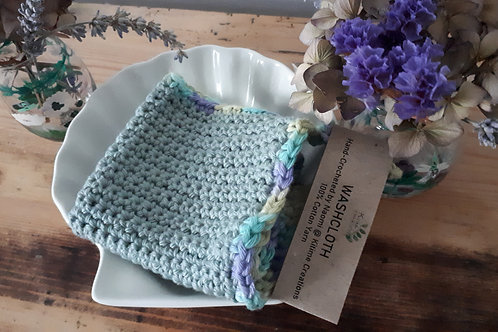 Teal and Multi Face/Wash/Dish Cloth
