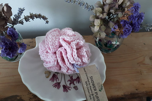 Pink and Lavender Shower Puff - Small