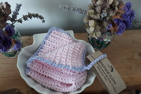 Pink and Lavender Face/Wash/Dish Cloth