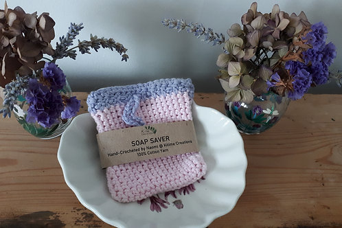 Baby Pink and Lavender Soap Saver