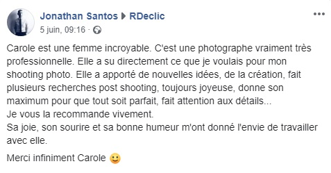 RDECLIC photographe mode cergy avis