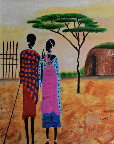 Masaai Couple