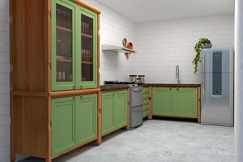 Cozinha Modulada Verde Kiwi (ESGOTADO)