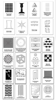 Classic Optical Illusions Poster Set, Set of 24 posters