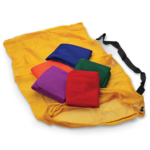 Mesh Ball Bags with Shoulder Strap - 48 in. x 24 in. Set of 6 colors