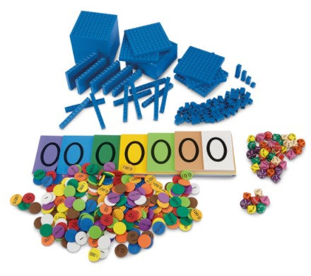 Base 10 with Place Value Kit, Grades 3-5 - For NASCO Mobile Math Cart