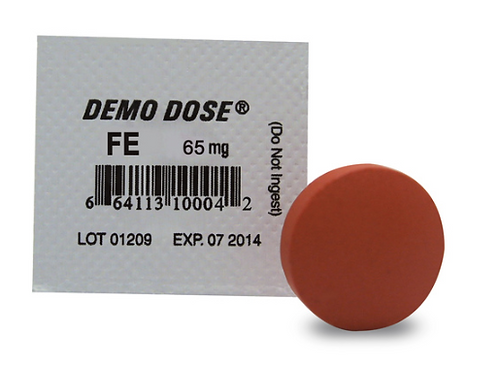 Demo Dose® Oral Medications - Fe - 65 mg, per box of 100