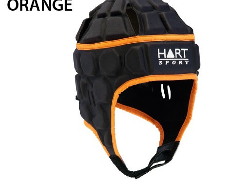 HART Attack Head Gear Rugby Helmet, Large - ORANGE
