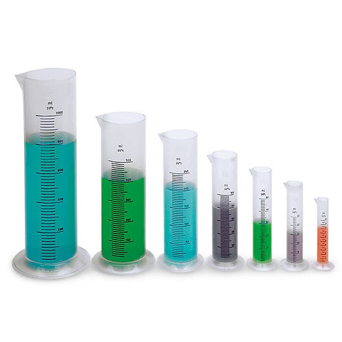 Graduated Plastic Cylinder Set, Set of 7