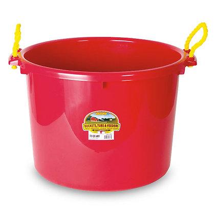 2-Bushel Equipment Bucket,  RED