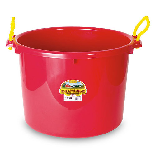 2-Bushel Equipment Bucket,  RED