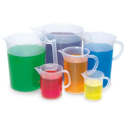 Plastic Beaker Handy Jugs, Set of 6