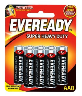 Alkaline Batteries - Size AA, Pack of 8
