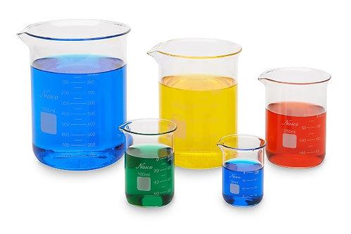 Glass Beakers - Set of 5, Brand LIMEX