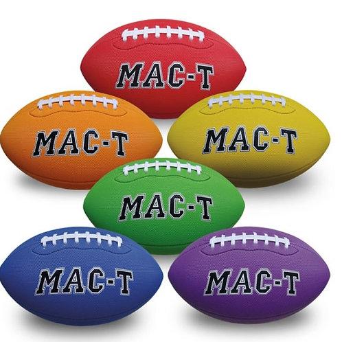 MAC-T® Soft Tek Football Set - 10 in. Junior, Set of 6 colors