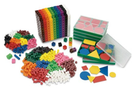 Cube with Attribute Blocks Kit, Grades 3-5 - For NASCO Mobile Math Cart