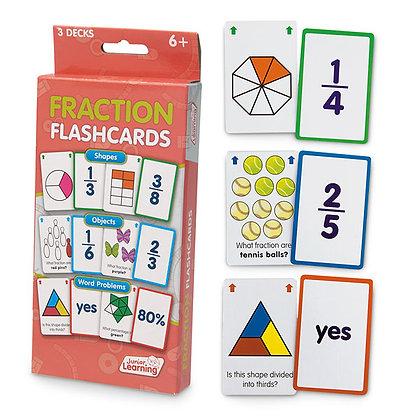 Fraction Flash Cards - Set of 162