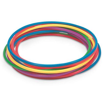 24 in. Plastic Hoops Set, Set of 12