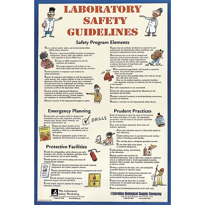 Carolina® Laboratory Safety Guidelines Chart
