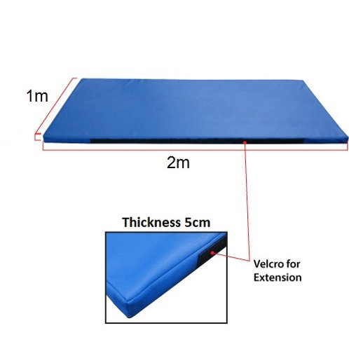 Gymnastic Mat 2m x 1m x 5 cm with side velcro