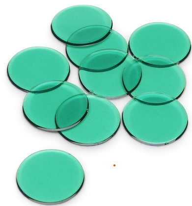 Counting Chips, Green Pkg of 350 pieces