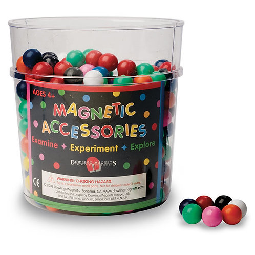 Dowling Solid-Colored Magnetic Marbles with Display Bucket