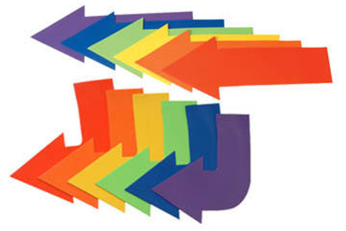 Rubber Arrow Set, Straight - Set of 6 colors