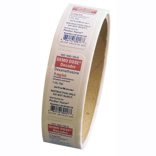 Demo Dose® Medication Labels - Decadrn, 4 mg/ml