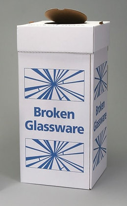 Large Glass Disposal Boxes, Floor Model, Pack of 6