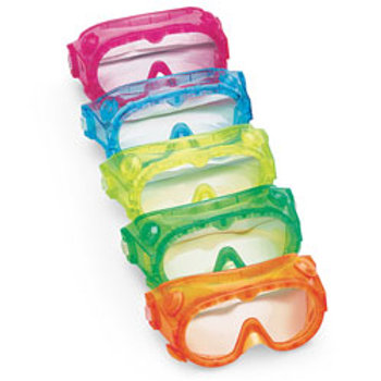 Pri School Fluorescent Chemical Splash Goggles, Set of 5
