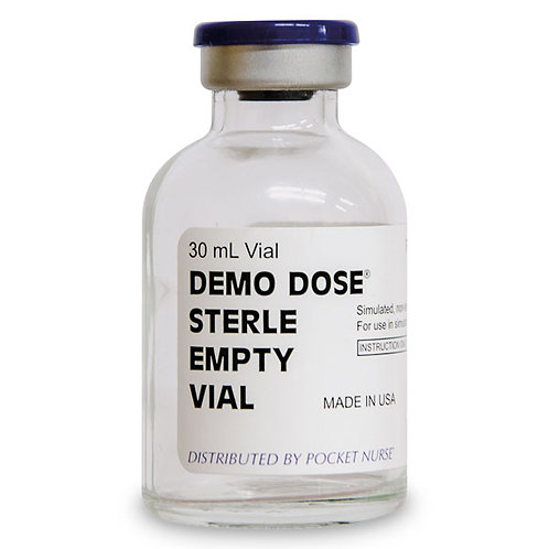 Demo Dose® Empty Vials - 30 ml, Box of 25