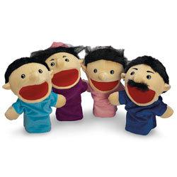 Family Hand Puppets - Hispanic