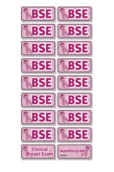 Breast Self-Examination Reminder Stickers