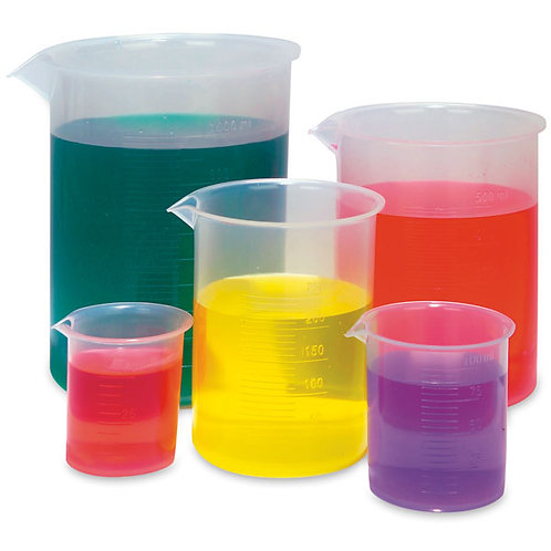 Polypropylene Graduated Beaker Set, Set of 5