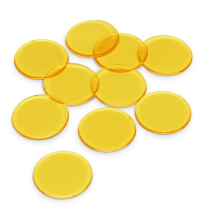 Counting Chips, Yellow, Pkg of 350 pieces