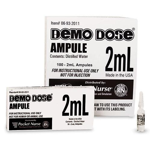 Demo Dose® Clear Ampule - 2 ml, per box of 100 ampules