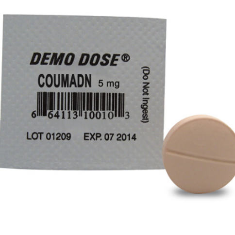 Demo Dose® Oral Medications - Coumadn - 5 mg, per box of 100