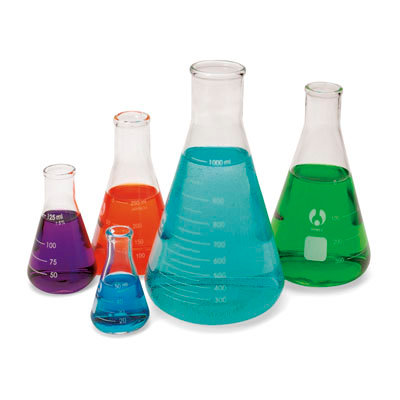 Erlenmeyer Economy Glass Flask, Narrow Mouth, Set of 5